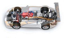 911 GT3 R Hybrid Cutaway