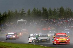 A massive crowd watched the BTCC in action at Croft