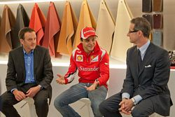 Andy Duncan, Felipe Massa and Matteo Torre