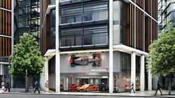 Artists impression of new McLaren London Showroom
