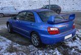 Blue Subaru Impreza WRX
