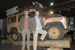 Bob and Joe Ives with Land Rover 110 Turbo Diesel