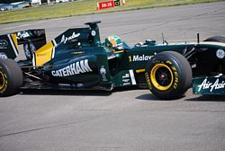 Caterham on Formula One Team Lotus car
