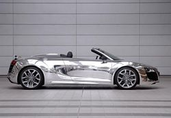 Chrome Effect Finish Audi R8 Spyder V10
