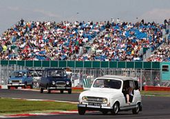 Classic Renaults take to the track