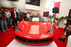 Ferrari debuts in India