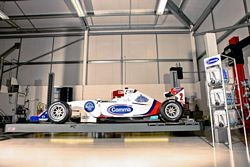Formula 2 car spied in family car workshop