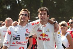 Goodwood Festival of Speed Jenson Button and Mark Webber