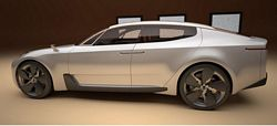 Kia four door sports sedan concept