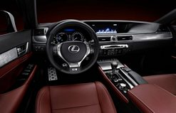 The new Lexus GS F Sport Interior