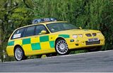 MG ZT-T Ambulance Services Car
