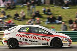 Matt Neal racing at Croft