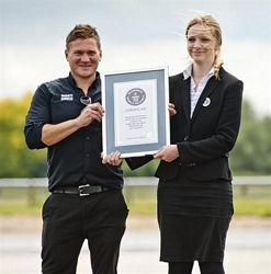 Mauro Calo is presented with his Guinness World Record