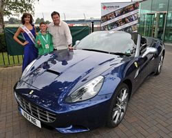 Miss Birmingham, Liam Taylor and Mike Brewer at Silverstone