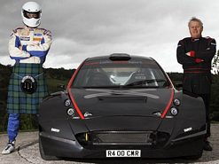 Scottish Stig, the Colin McRae R4 rally car and five times British Rally Champion Jimmy McRae