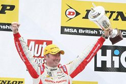 Shedden celebrates on BTCC podium
