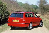 Skoda Octavia vRS Estate Rear 2001-2005