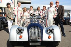 Stephanie Moore MBE and non-racing team captain DJ Bob Harris join celebrity drivers