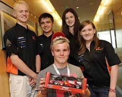 Team Dynamic with F1 in Schools winner Shane Pighills