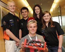 Team Dynamic with F1 in Schools winner Shane Pighills