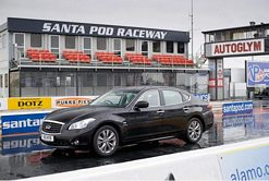 The Infiniti M35h accelerates into the record books