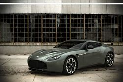 V12 Zagato Front Quarter Steel Green