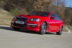 Vauxhall VXR8 super saloon wins MPG Marathon