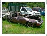 Wrecked Porsche