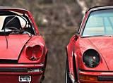 Wrecked Porsches
