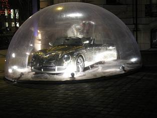 Bubble Wrapped Car