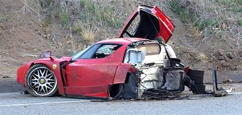 Crashed Ferrari