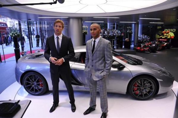 Jenson Button And Lewis Hamilton Mclaren Retail Network