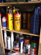 Useful Car Sprays, cans, oils, paint, liquids etc