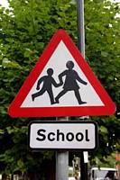 School Children Warning Sign