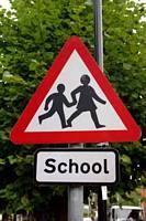 School Children Warning Sign