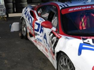 Smashed Racing Car