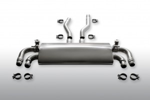 GEMBALLA sports exhaust system with sound valve control for Porsche Cayenne (3)