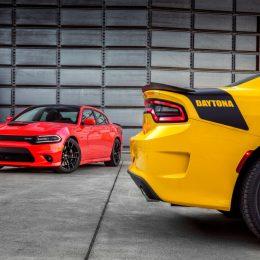 2017 Dodge Charger Daytona 392 (left) and 2017 Dodge Charger Daytona (right)