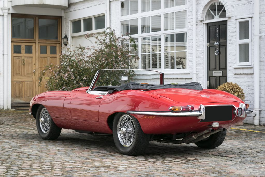 5. Jaguar E-Type Roadster rear-side
