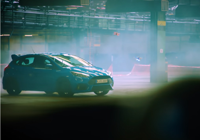 The course includes a drifting Focus RS