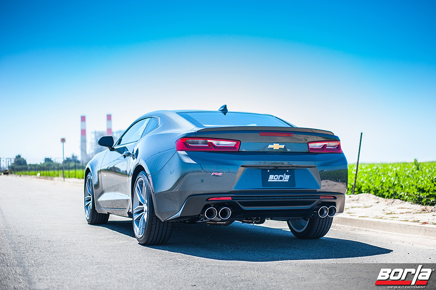 Borla Introduces Performance Exhaust Systems For 2016 Chevrolet Camaro 3.6L V6 And 2.0L Turbo