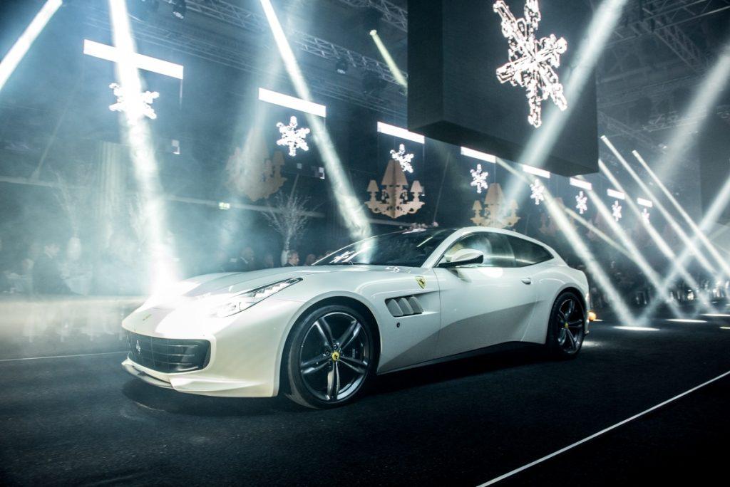 Ferrari GTC4Lusso Fashion Show Catwalk, Old Billingsgate Market