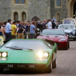 Lamborghini Countach on the Grand Depart