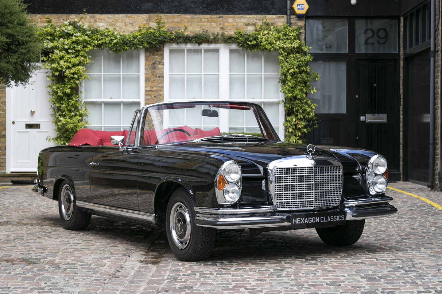 extremely rare right hand drive 1970 mercedes benz 280 cabriolet goes on sale at hexagon. Black Bedroom Furniture Sets. Home Design Ideas