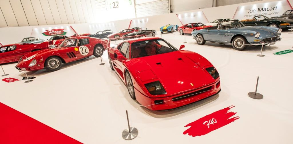 Ferrari Tribute at The London Classic Car Show