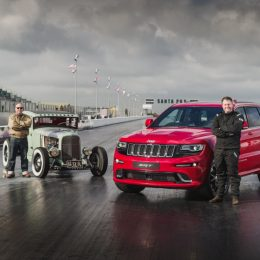 Jeep Grand Cherokee SRT Beats Hemi-Powered Hot Rod At Famous Santa Pod