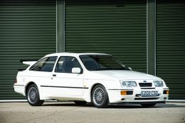 Iconic eighties Ford Sierra Cosworth RS500 at NEC Classic Car Show sale