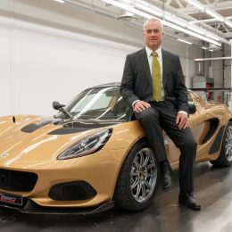 Clive Chapman, son of Lotus founder Colin Chapman and Director of Classic Team Lotus