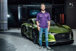 Sam Bird takes the DS E-Tense for a spin inside Westfield London shopping centre