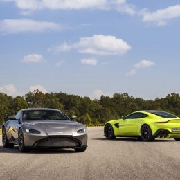 Aston Martin Vantage Tungsten Silver and Lime Essence